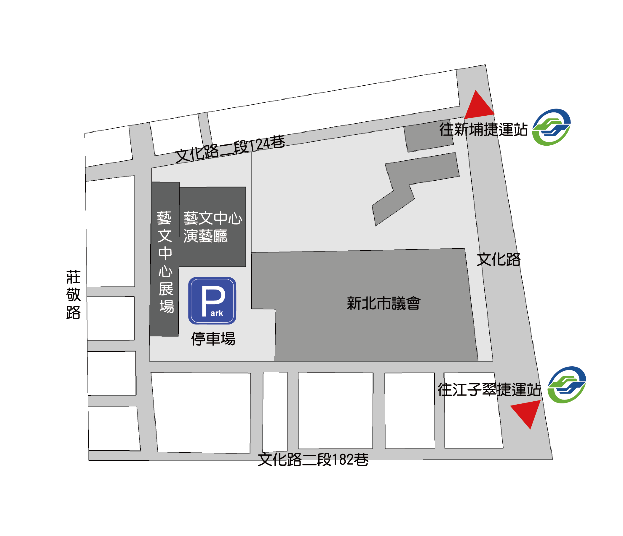新北市藝文中心位置平面圖