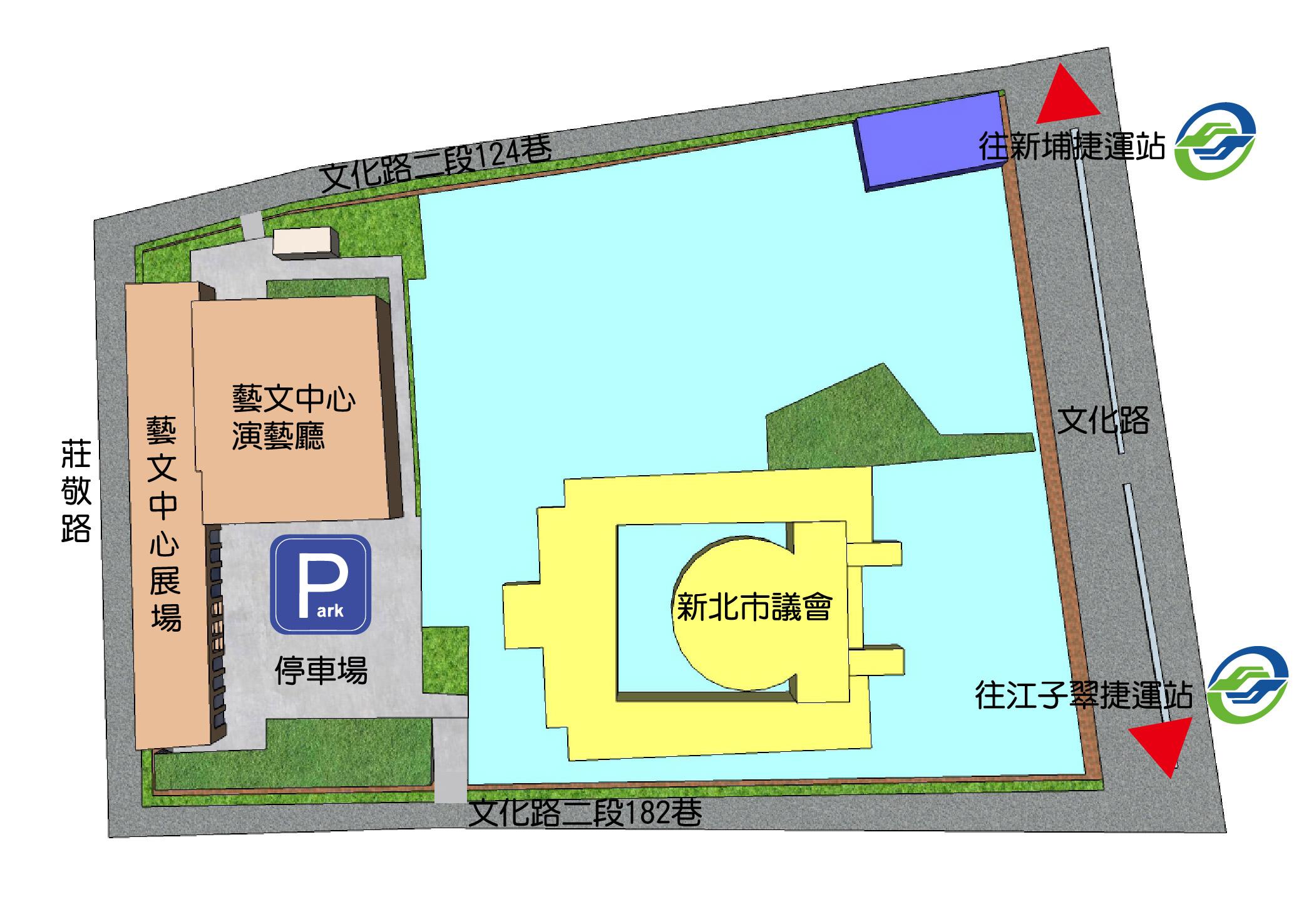 新北市藝文中心位置俯瞰圖
