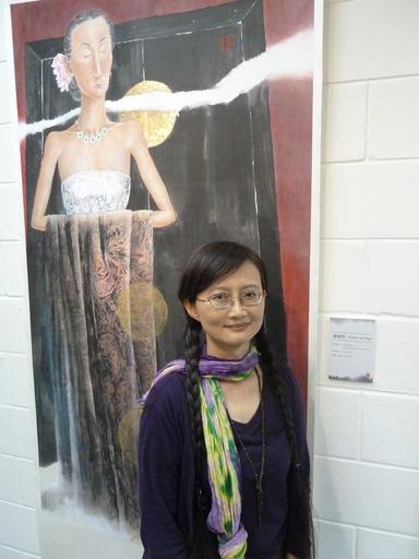 水墨彩繪藝術家錢瑞英 以墨彩繪出女性青春 「花漾─一個女人看女人」水墨個展